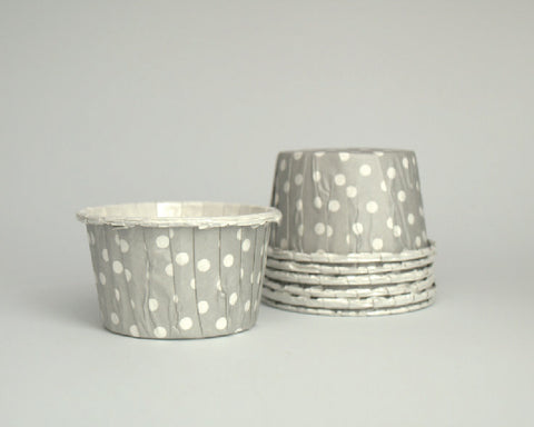 Gray Polka Dot Candy Cups