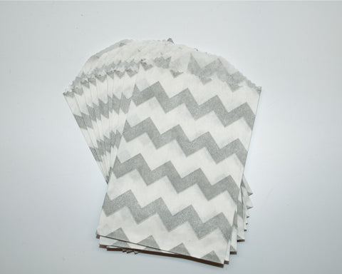 Small Gray Chevron Favor Bag