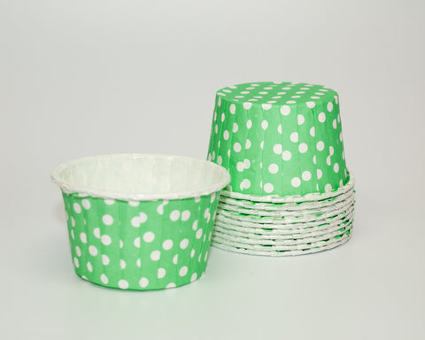 Green Polka Dot Candy Cups