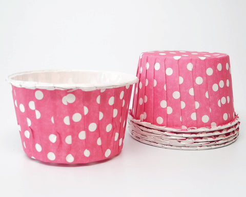 Hot Pink Polka Dot Candy Cups