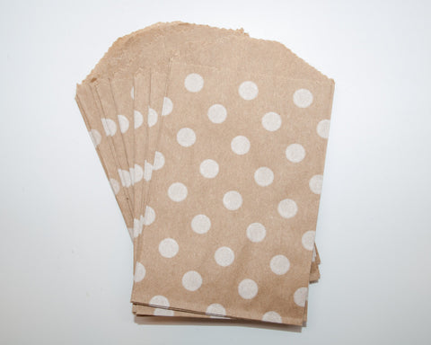 Small Kraft Polka Dot Favor Bags