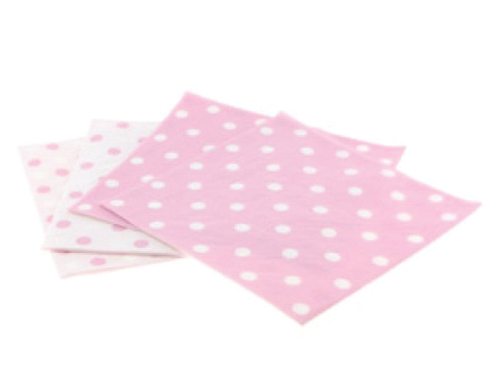Pink Polka Dot Napkins - Undercover Hostess