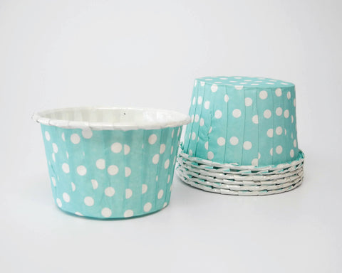 Light Blue Polka Dot Candy Cups