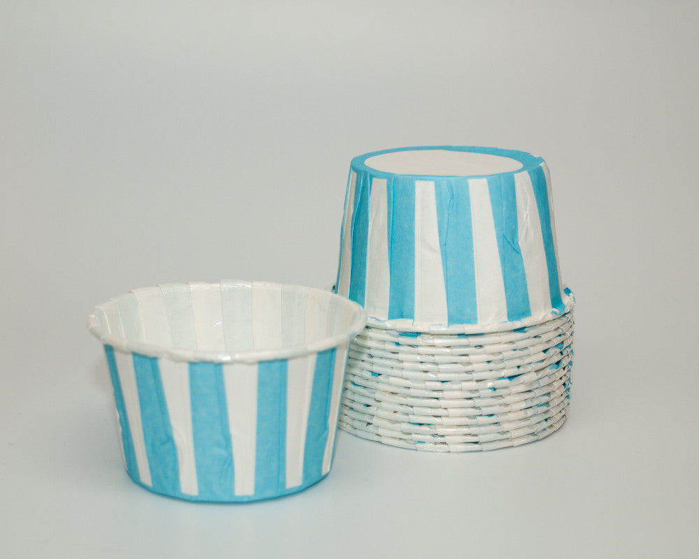 Light Blue Stripe Candy Cups - Undercover Hostess