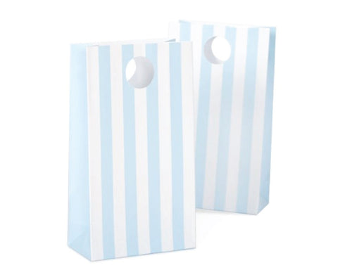 Light Blue Stripe Favor Bag