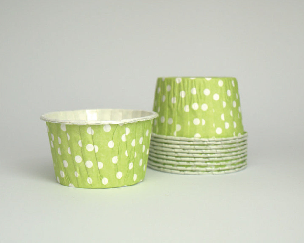 Lime Green Polka Dot Candy Cups - Undercover Hostess