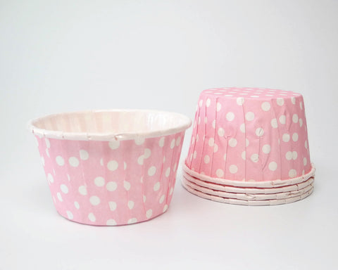 Light Pink Polka Dot Candy Cups