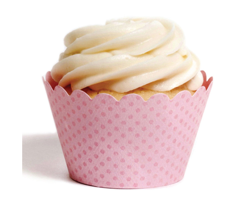 Light Pink Tiny Dot Cupcake Wrappers - Undercover Hostess