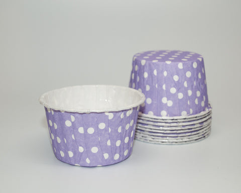 Light Purple Polka Dot Candy Cups