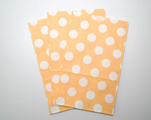 Medium Orange with Large Polka Dot Favor Bags