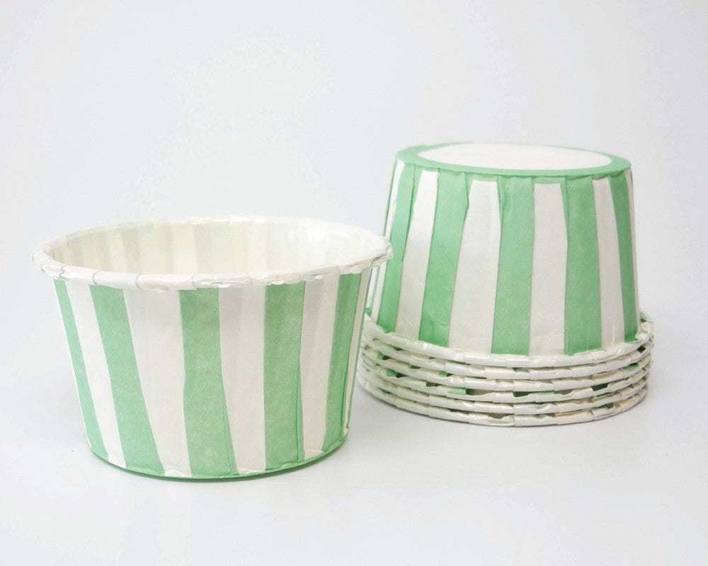 Mint Stripe Candy Cups - Undercover Hostess