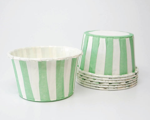 Mint Stripe Candy Cups