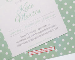 Monogram Baby Shower Invitations - Undercover Hostess - 3
