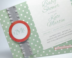 Monogram Baby Shower Invitations - Undercover Hostess - 2