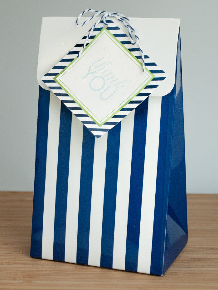 A Striped Soiree Favor Bags & Tags - Undercover Hostess
