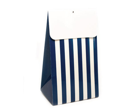 Navy Stripe Favor Box