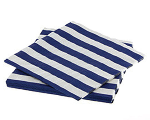 Navy Stripe Napkins