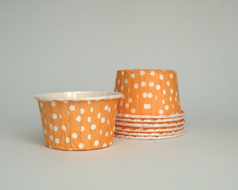 Orange Polka Dot Candy Cups