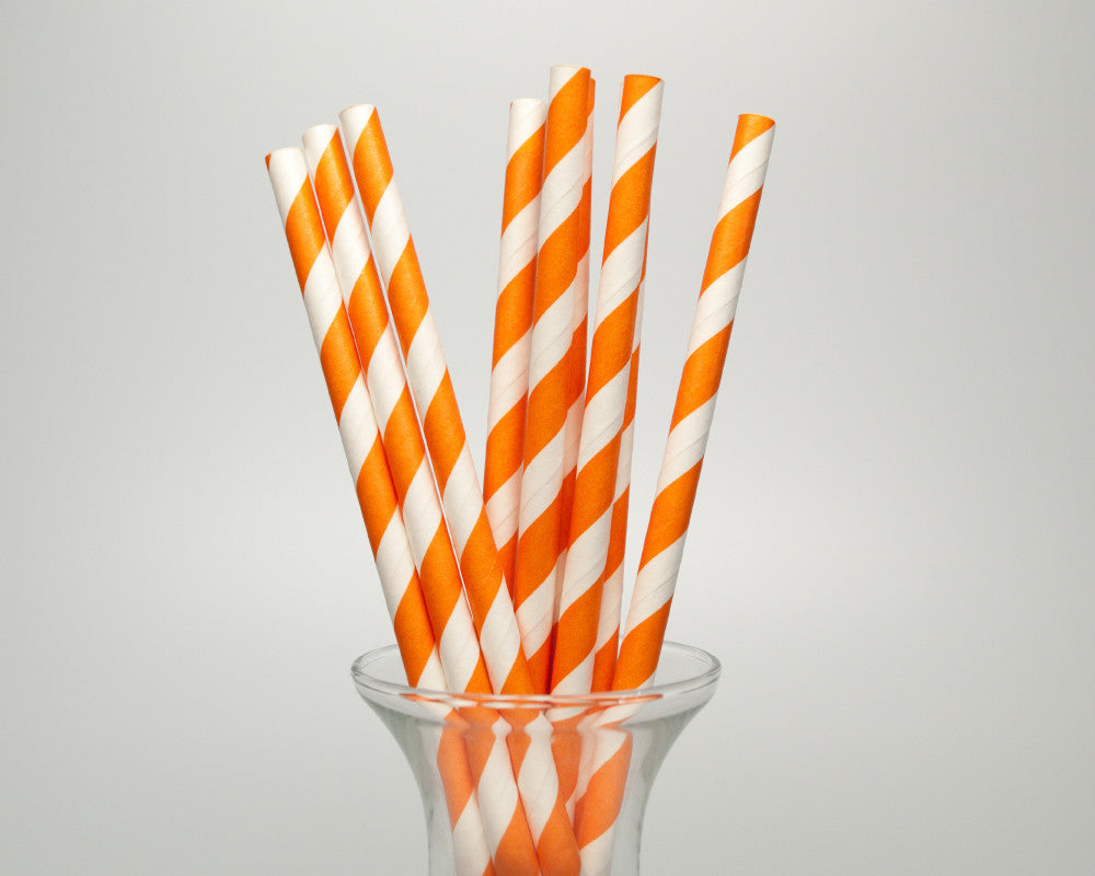 Orange Striped Straws - Undercover Hostess