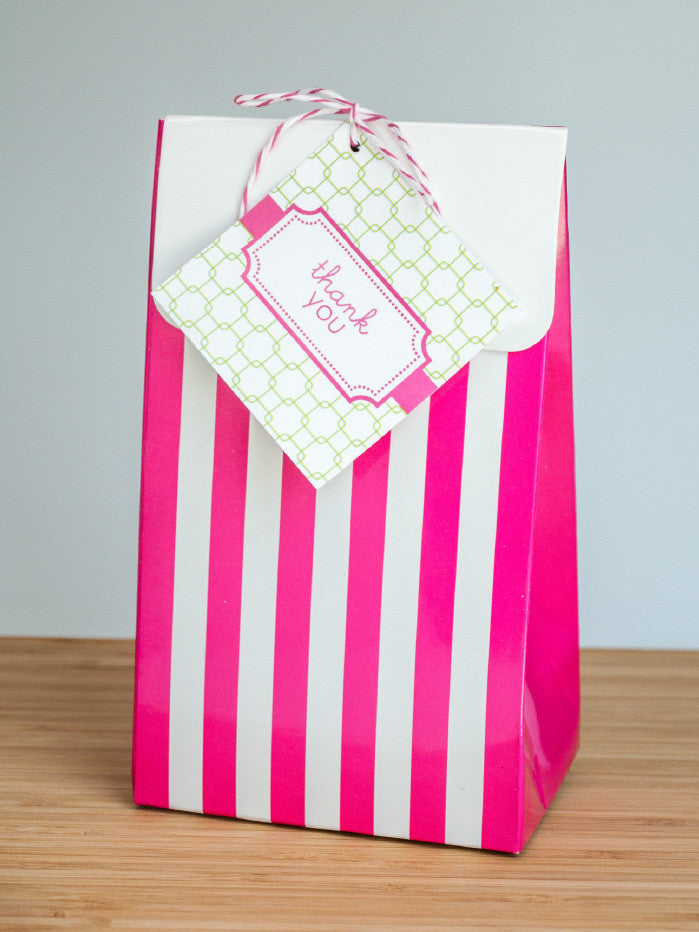 The Preppy Bride Favor Bags & Tags - Undercover Hostess