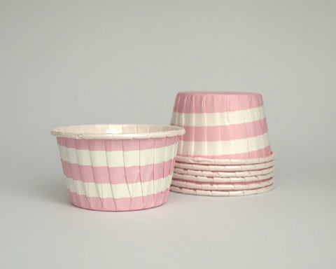 Light Pink Stripe Candy Cups