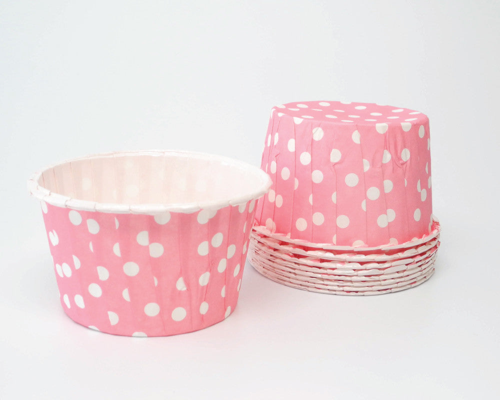 Bright Pink Polka Dot Candy Cups - Undercover Hostess