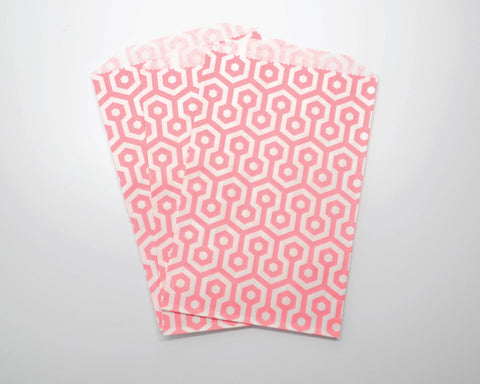 Medium Pink Geometric Favor Bags