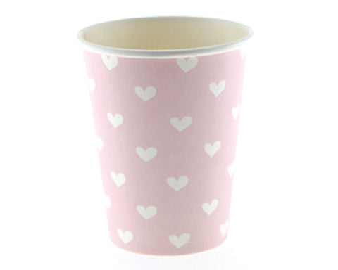 Pink Heart Paper Cups