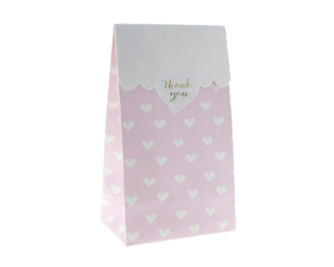 Pink Heart Favor Bag