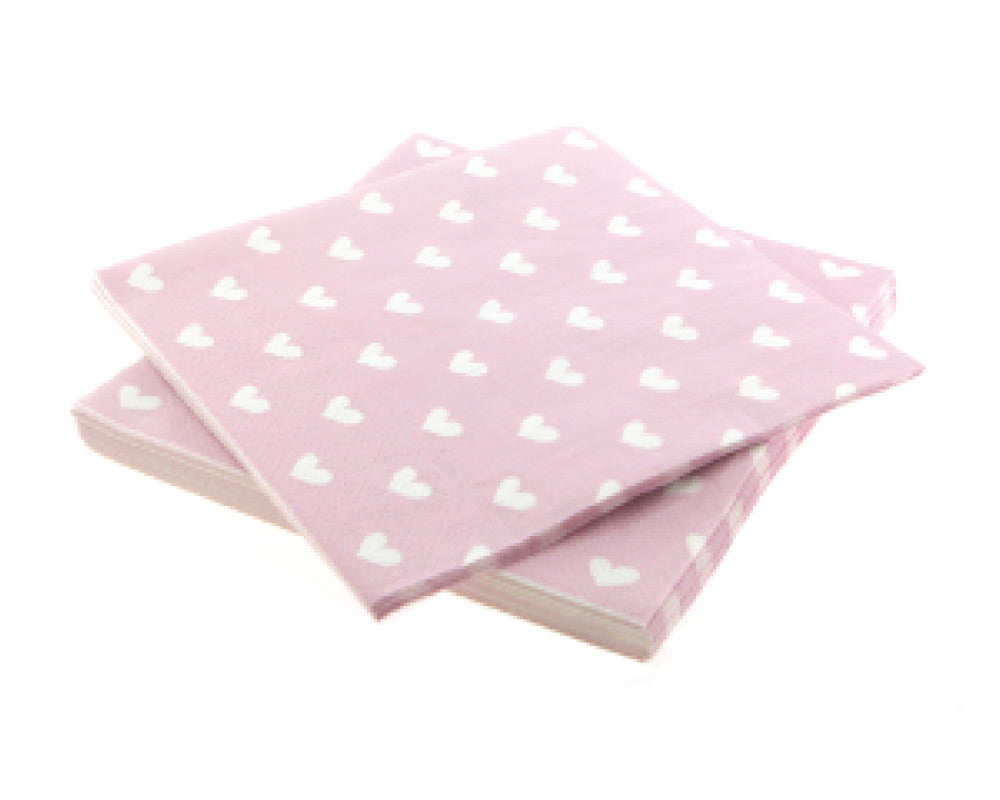 Pink Heart Napkins - Undercover Hostess
