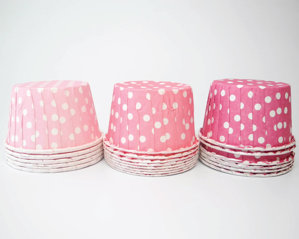 Ombre Pink Polka Dot Candy Cups - Undercover Hostess