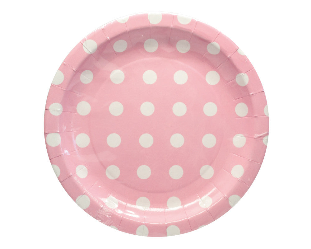 Pink With White Polka Dots Dessert Plates - Undercover Hostess