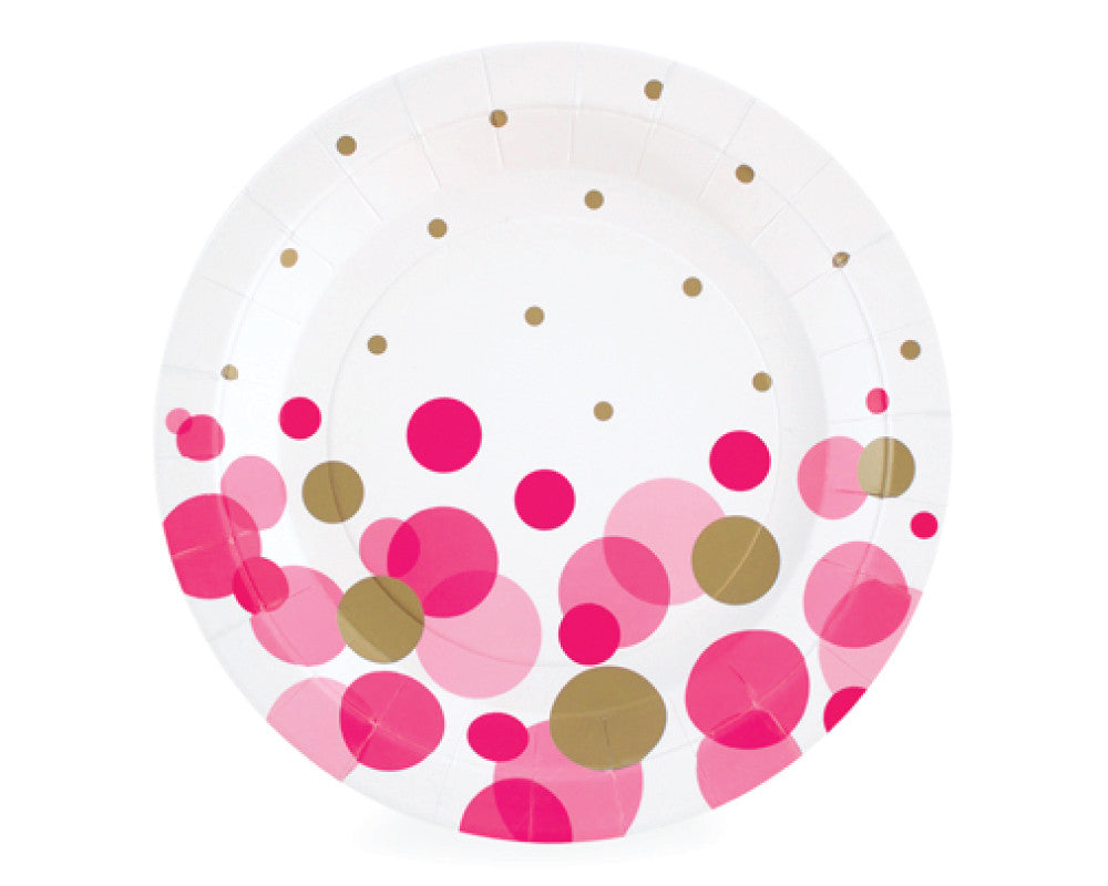 Pink So Hot Dessert Plates - Undercover Hostess - 1