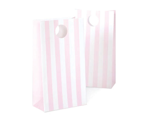 Pink Stripe Favor Bag