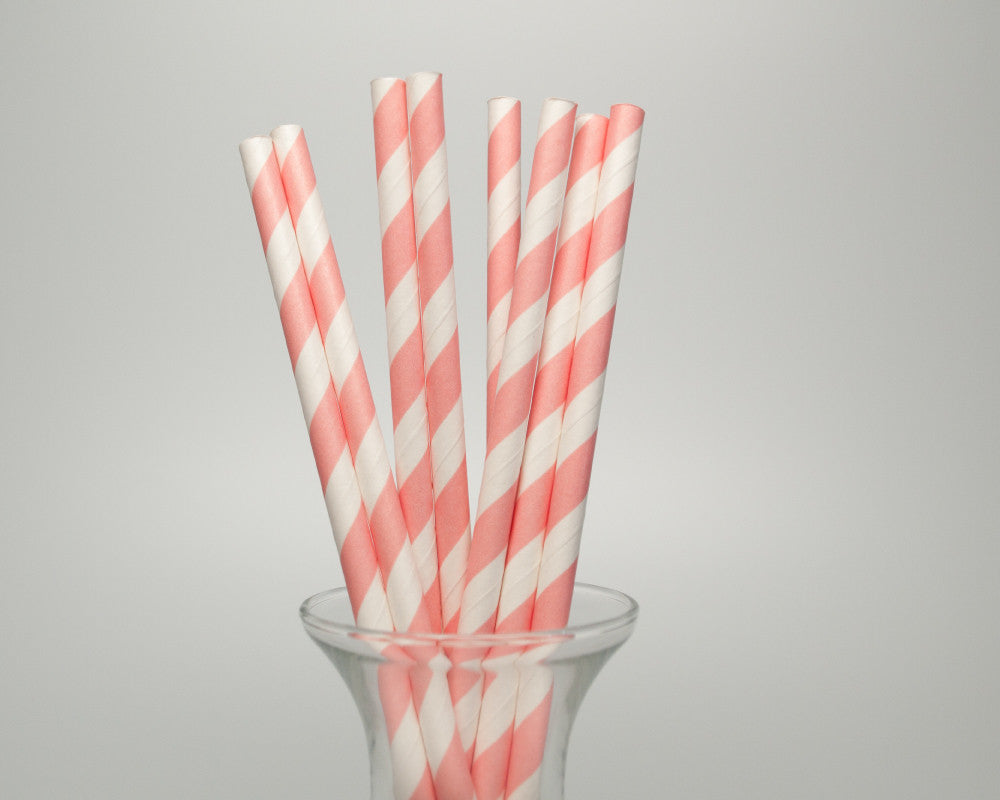 Pink Striped Straws - Undercover Hostess