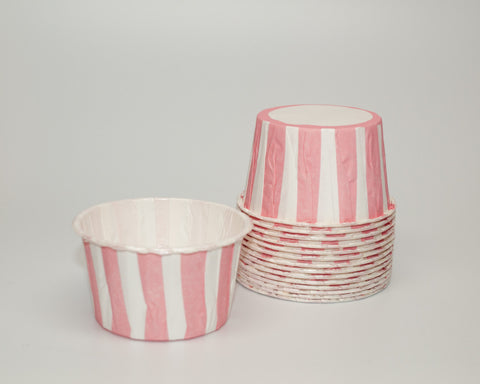 Pink Stripe Candy Cups