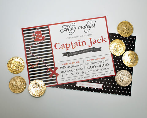 It's a Pirate's Life for Me Invitations
