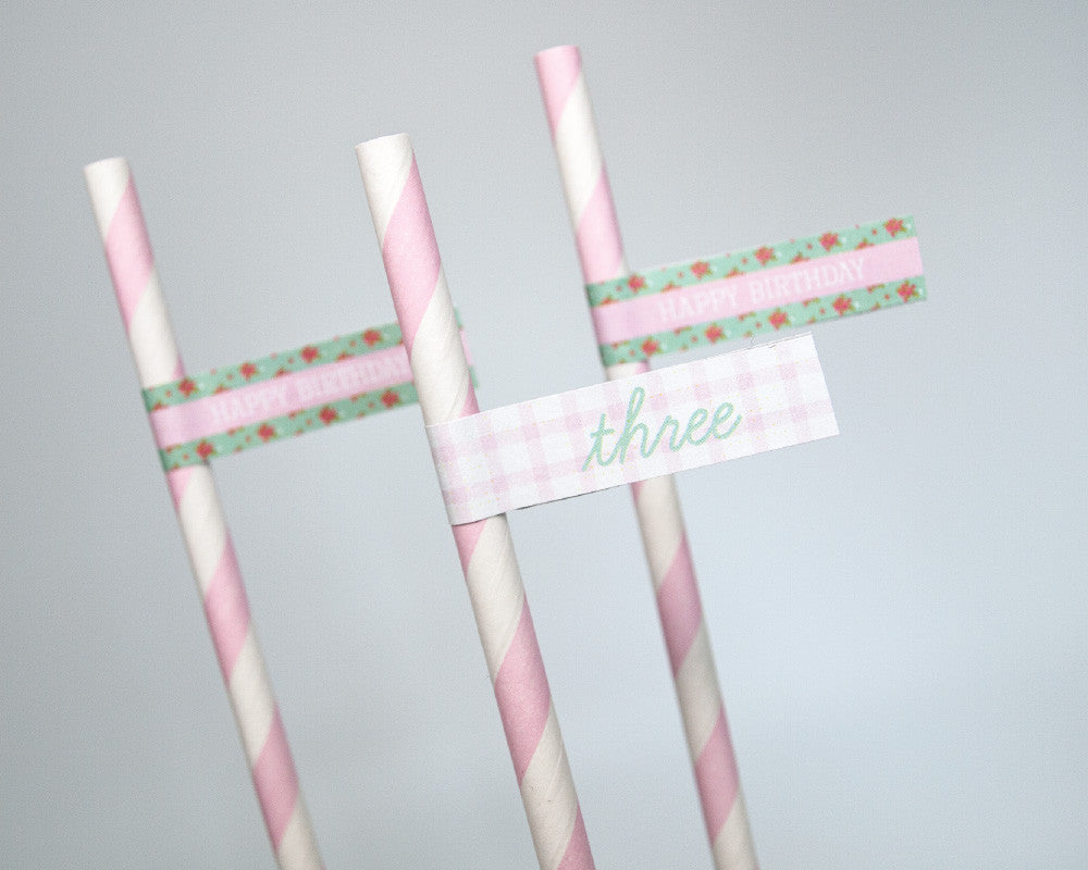 Shabby Chic Pony Party Straw & Flag Set - Undercover Hostess