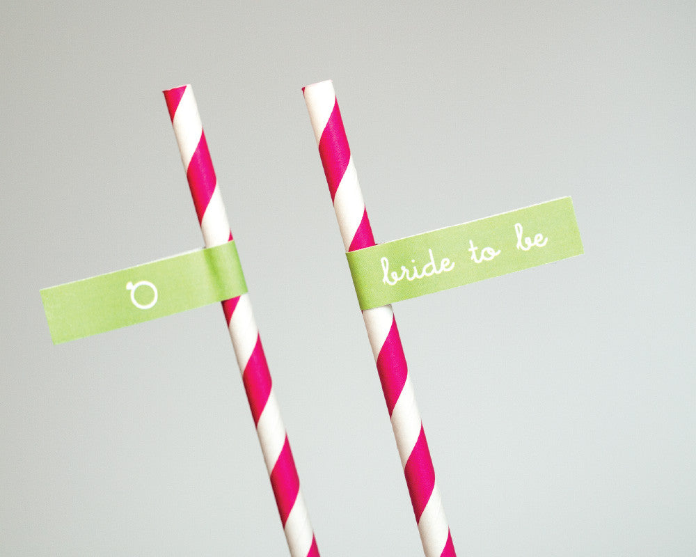 The Preppy Bride Straw & Flag Set - Undercover Hostess
