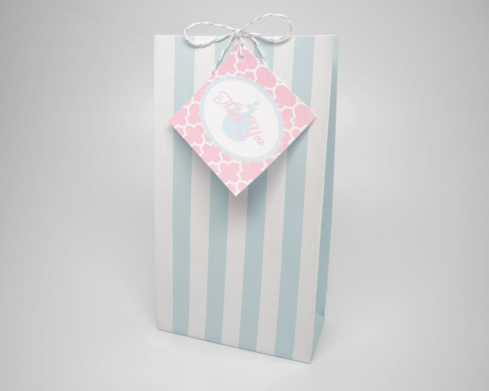 Once Upon a Time Blue Favor Bags & Tags - Undercover Hostess