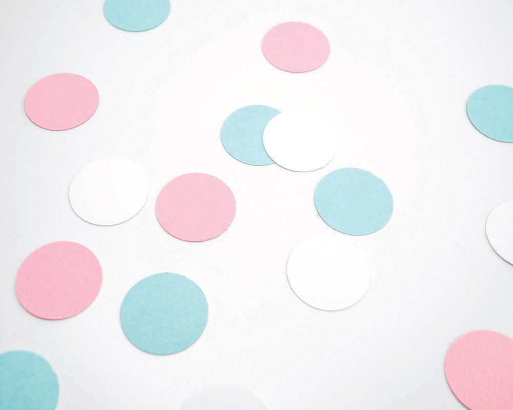 Pink, Light Blue and White Confetti - Undercover Hostess