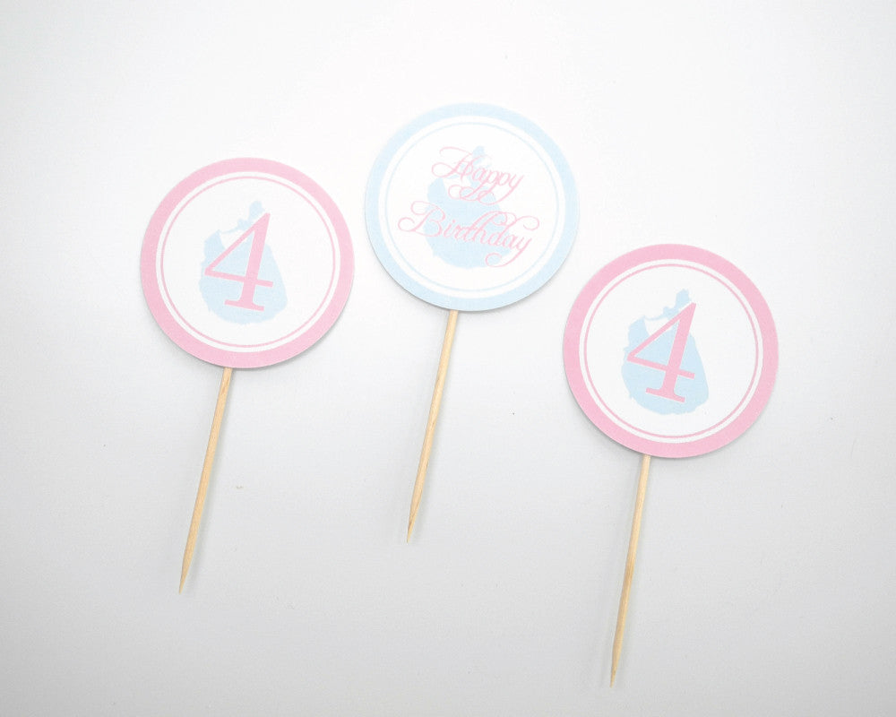 Princess Cupcake Toppers - Undercover Hostess