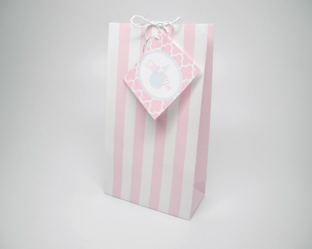 Once Upon a Time Pink Favor Bags & Tags - Undercover Hostess