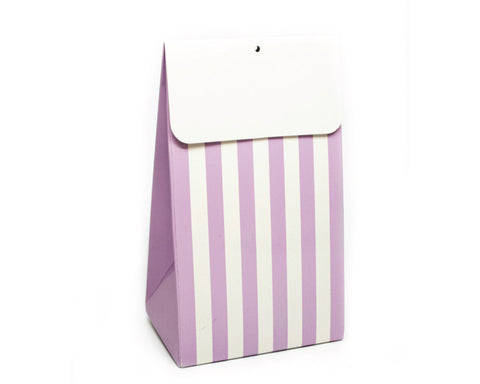 Light Purple Stripe Favor Box