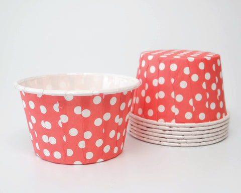 Red Polka Dot Candy Cups