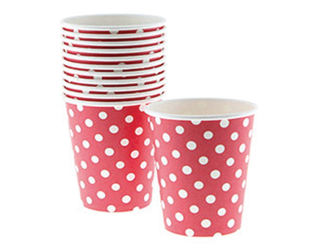 Red Polka Dot Paper Cups - Undercover Hostess