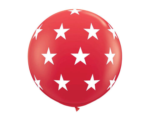 "Red with Stars 36"" Balloon"