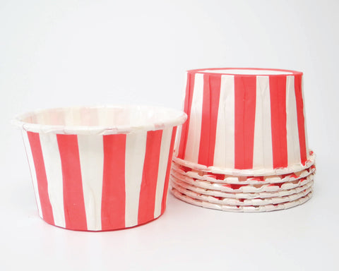 Red Stripe Candy Cups