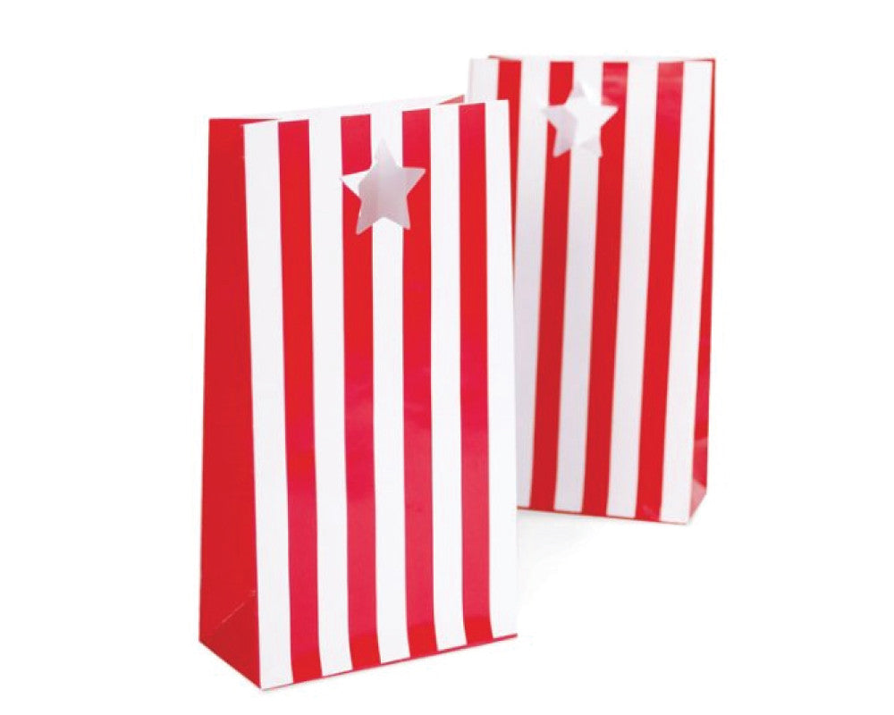 Red Stripe Favor Bag - Undercover Hostess