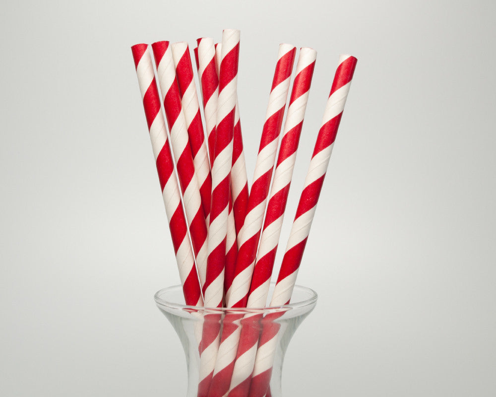 Red Striped Straws - Undercover Hostess